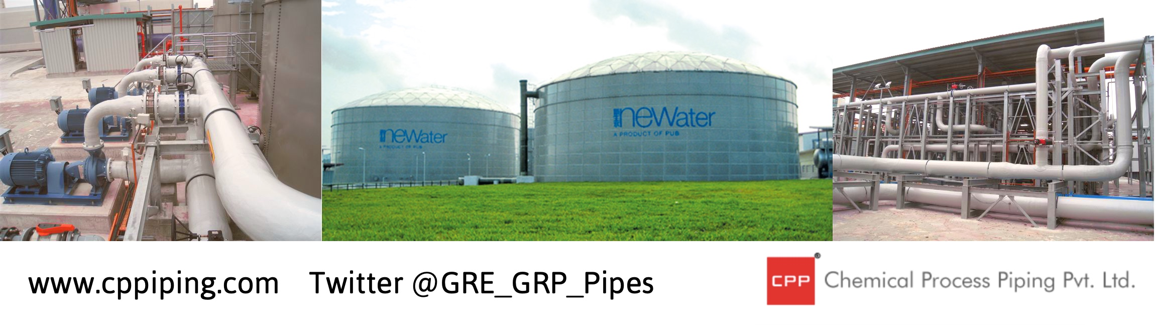 GRP Piping for Changi NEWater Plant Singapore