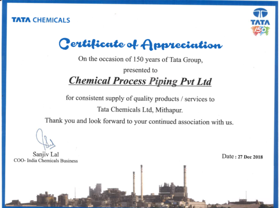 chemicals grp frp piping pipes tata chemicals testimonial